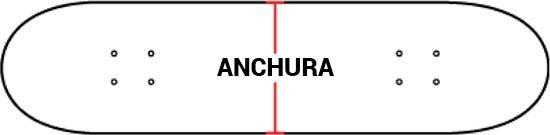 Anchura tabla skate