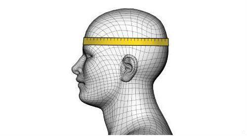 medir casco cabeza