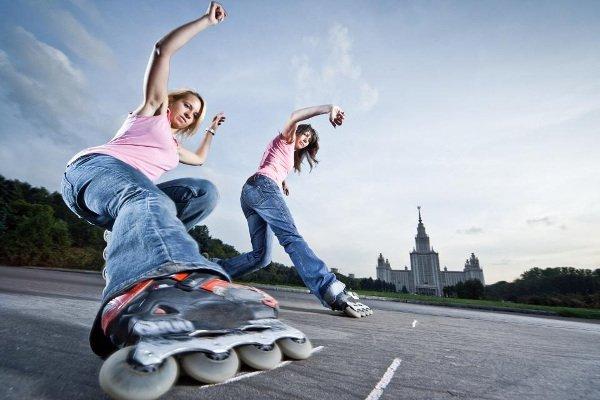 patines freeskate - chicas bailando