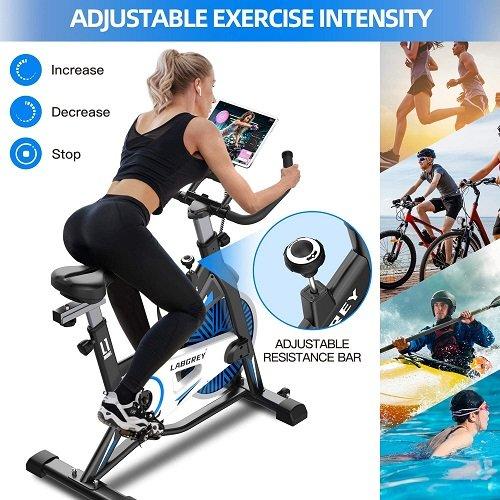 LABGREY Bicicleta Estatica de Spinning Bici Ejercicio Gym chica