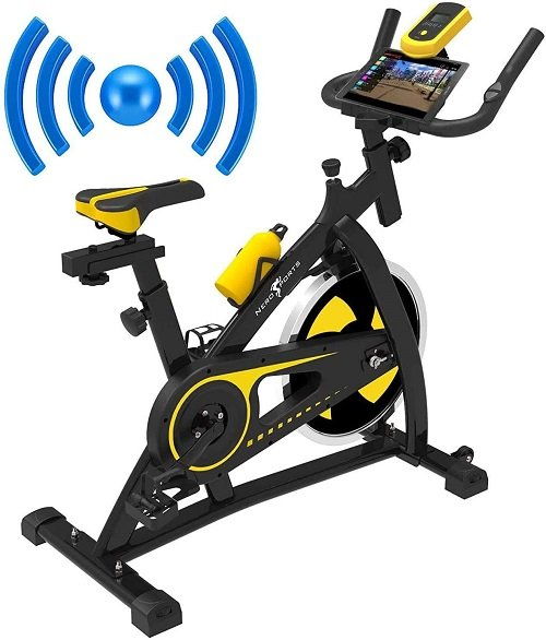 Nero Sport Bluetooth Bicicleta de Ejercicios Aeróbicos Spinning