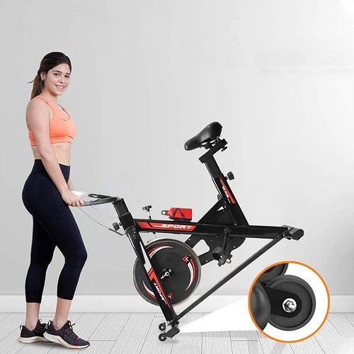 TLV BS2 Bicicleta Estatica de Spinning Bici Ejercicio chica plegando