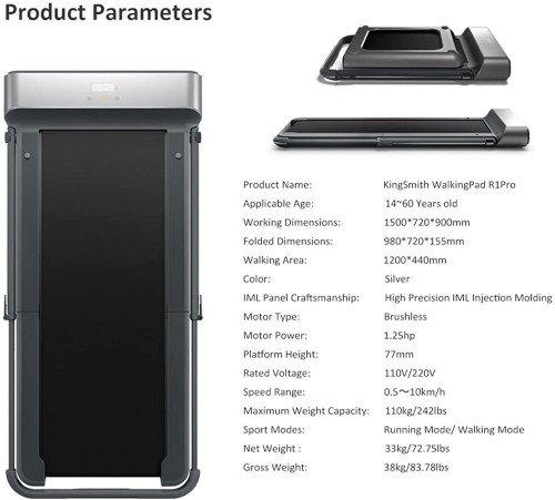 Xiaomi WalkingPad R1 Pro EU versión specs