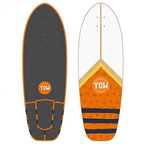 Yow Surf Mundaka Road Cruiser Deck Tabla de Skate, Unisex Adulto, Multicolor, 31'